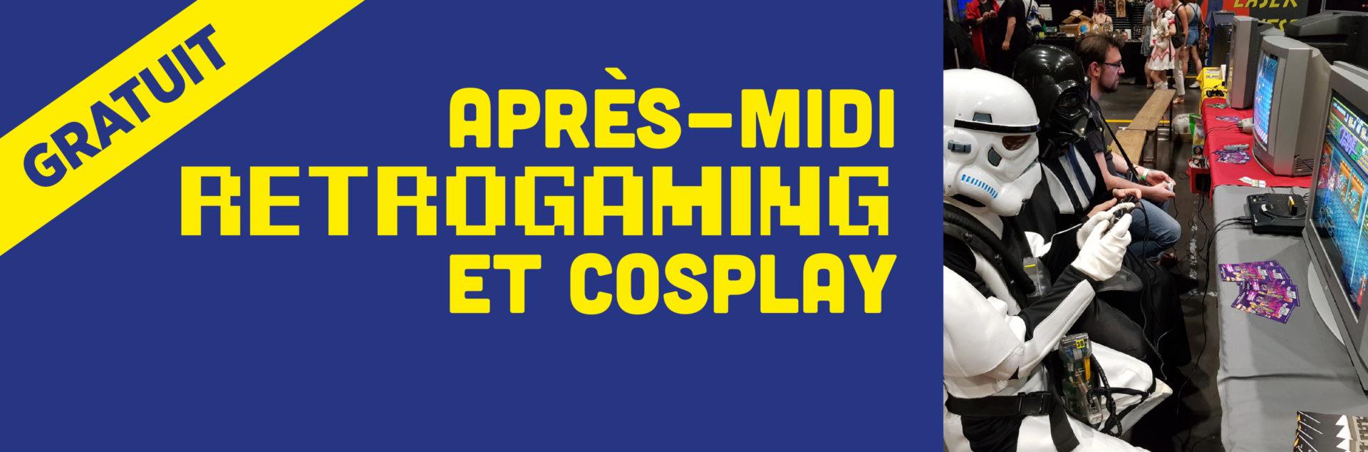 Après-midi retrogaming et cosplay
