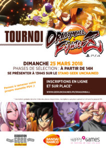 Tournoi Dragon Ball FighterZ Geek Unchained