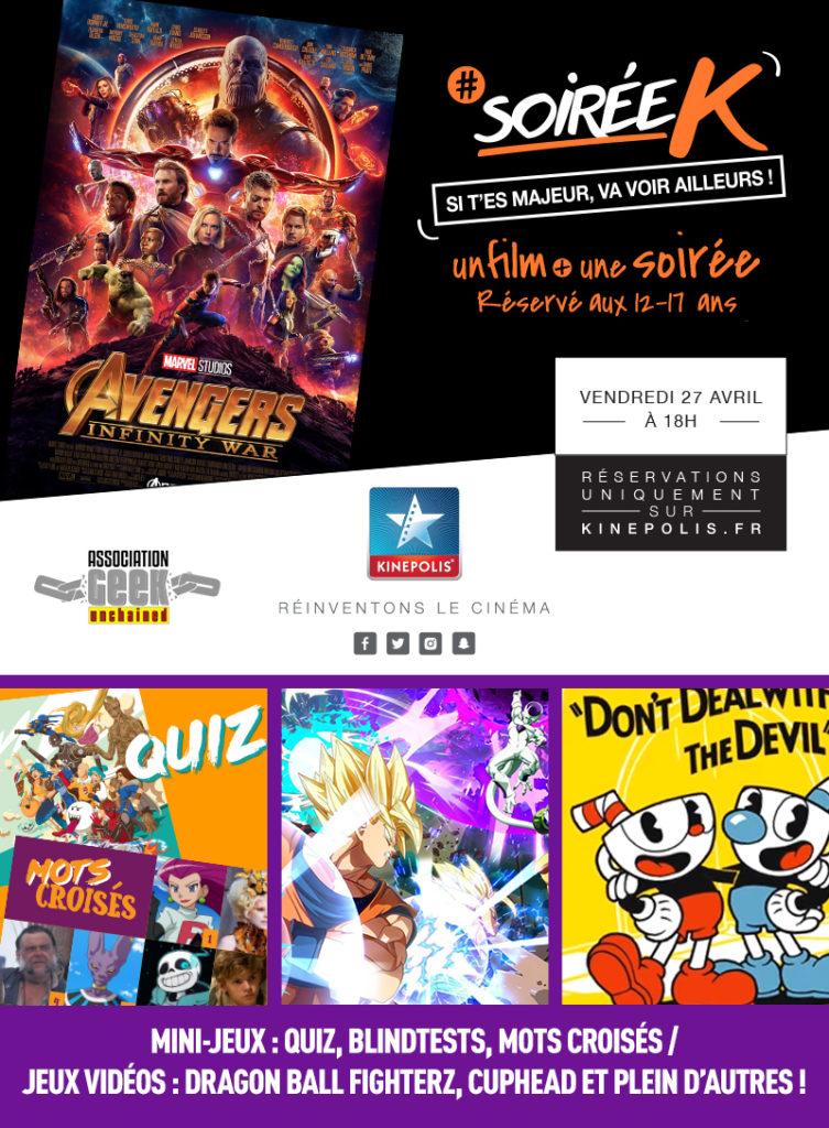 Soirée K / Avengers : Infinity War