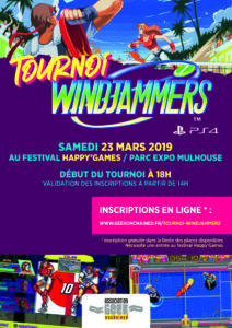 Tournoi Windjammers Geek Unchained